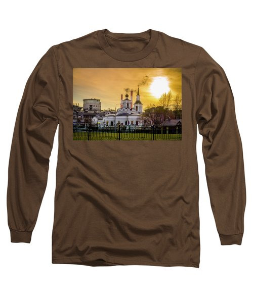 Long Sleeve T-Shirt featuring the photograph Russian Ortodox Church In Moscow, Russia by Alexey Stiop