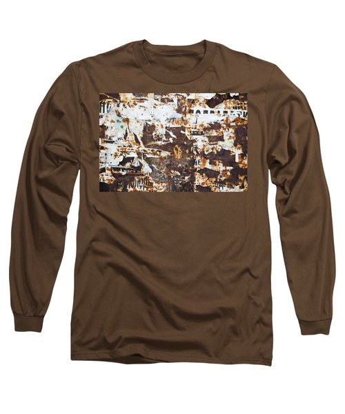 Rust And Torn Paper Posters Long Sleeve T-Shirt by John Williams