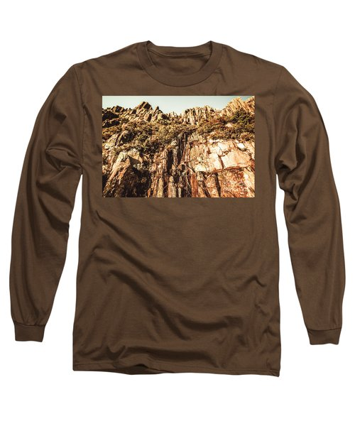 Rustic Cliff Spring Long Sleeve T-Shirt