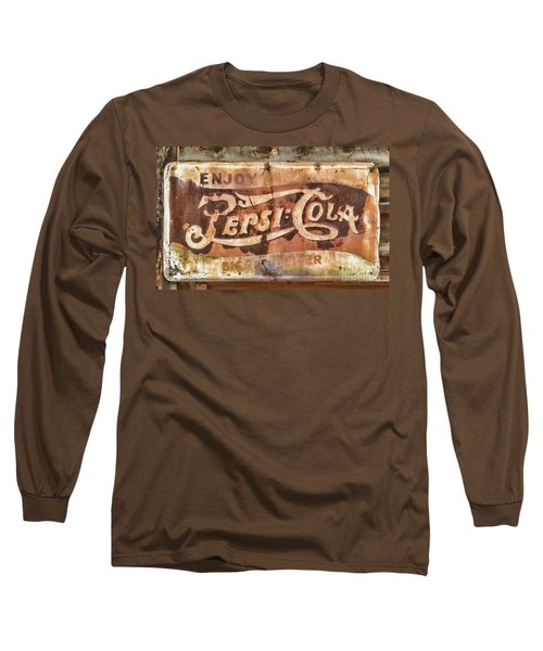 Rusty Pepsi Cola Long Sleeve T-Shirt by Steven Parker