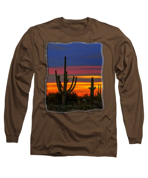 Saguaro Sunset V31 Long Sleeve T-Shirt