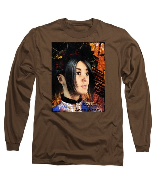 Long Sleeve T-Shirt featuring the painting Saint Anna Of China by Suzanne Silvir