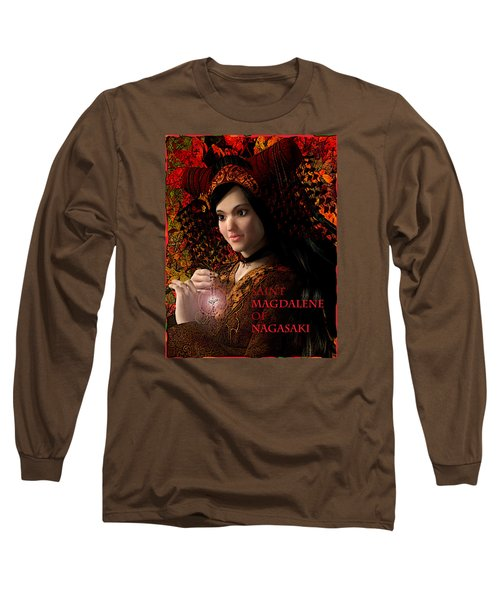 Long Sleeve T-Shirt featuring the painting Saint Magdalene Of Japan by Suzanne Silvir