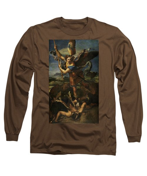 Saint Michael Defeats Satan Long Sleeve T-Shirt