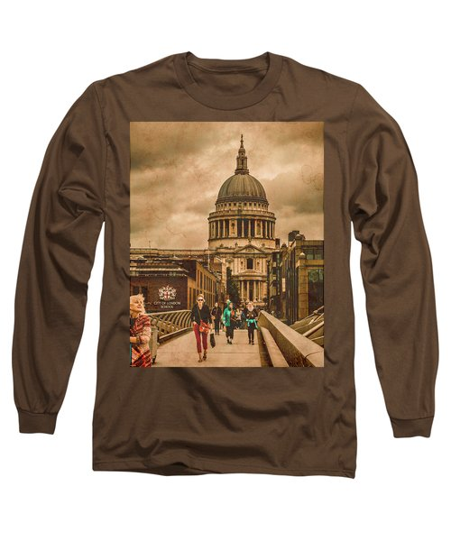 London, England - Saint Paul's In The City Long Sleeve T-Shirt