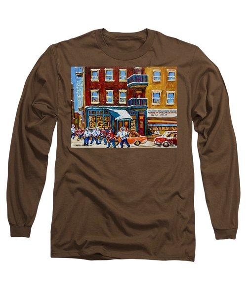 Saint Viateur Bagel With Hockey Long Sleeve T-Shirt