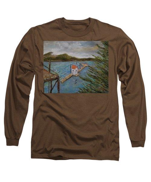 Salmon Hatchery, Juneau, Alaska Long Sleeve T-Shirt
