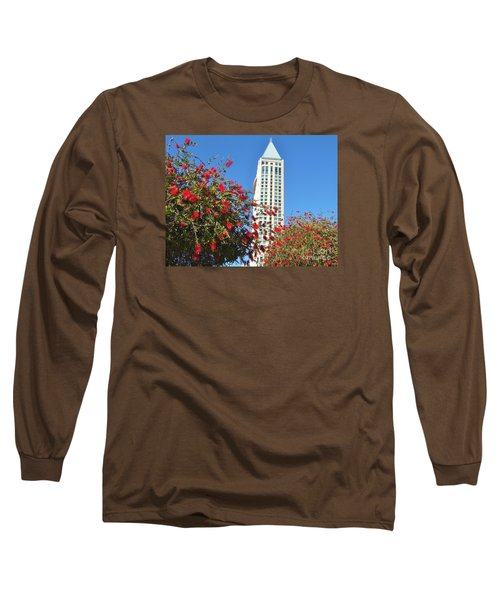 Long Sleeve T-Shirt featuring the photograph San Diego Building In Blossom by Jasna Gopic