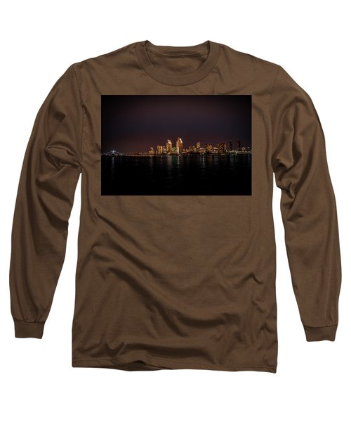Long Sleeve T-Shirt featuring the photograph San Diego Harbor by John Johnson
