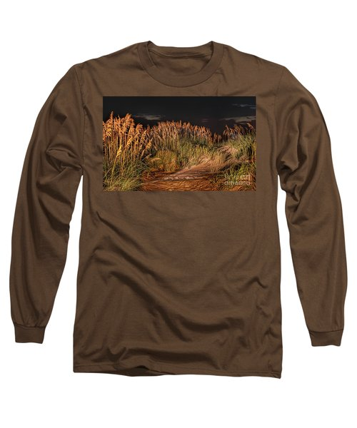 Long Sleeve T-Shirt featuring the photograph Sand Dunes At Night On The Outer Banks by Dan Carmichael