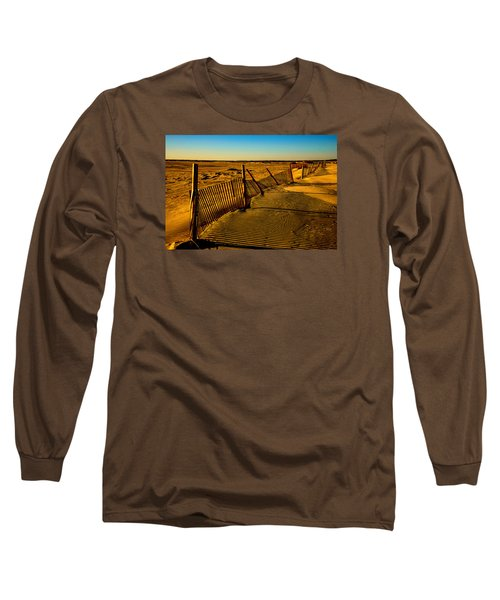 Sand Fences At Lands End II Long Sleeve T-Shirt by John Harding