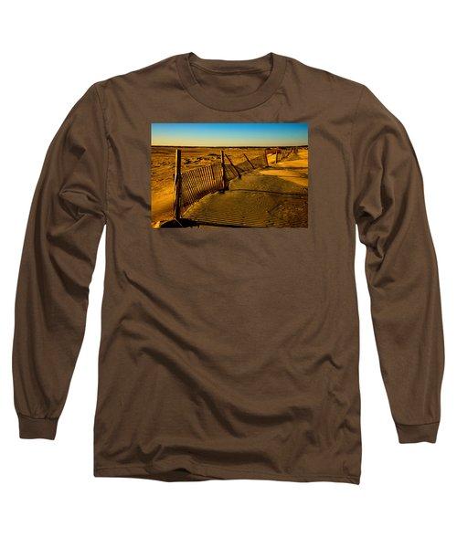 Sand Fences At Lands End II Long Sleeve T-Shirt