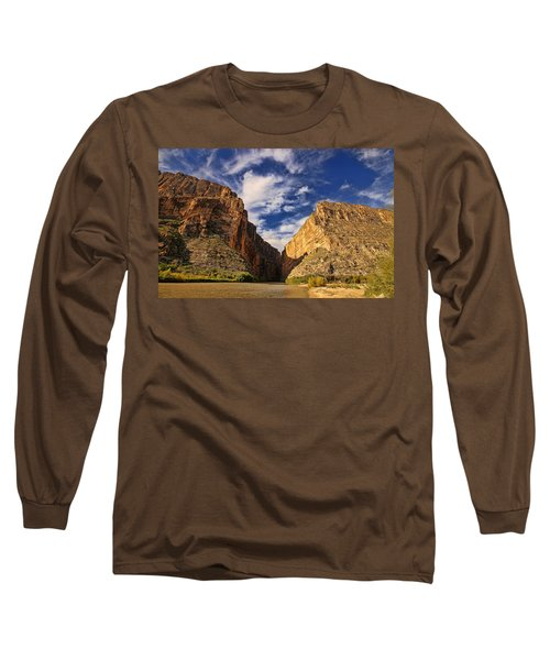 Santa Elena Canyon 3 Long Sleeve T-Shirt by Judy Vincent