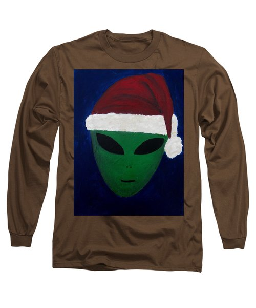 Santa Hat Long Sleeve T-Shirt by Lola Connelly