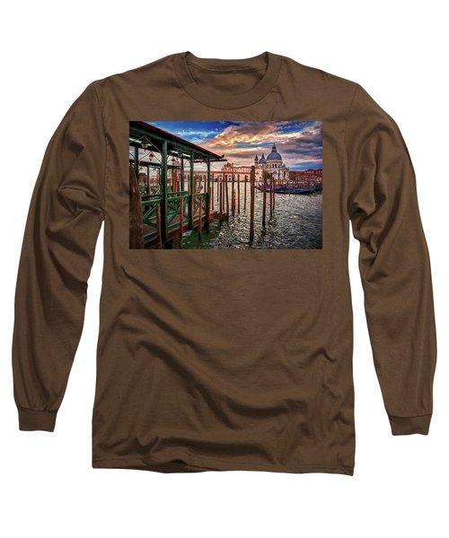 Santa Maria Della Salute From The Docks In Venice, Italy Long Sleeve T-Shirt