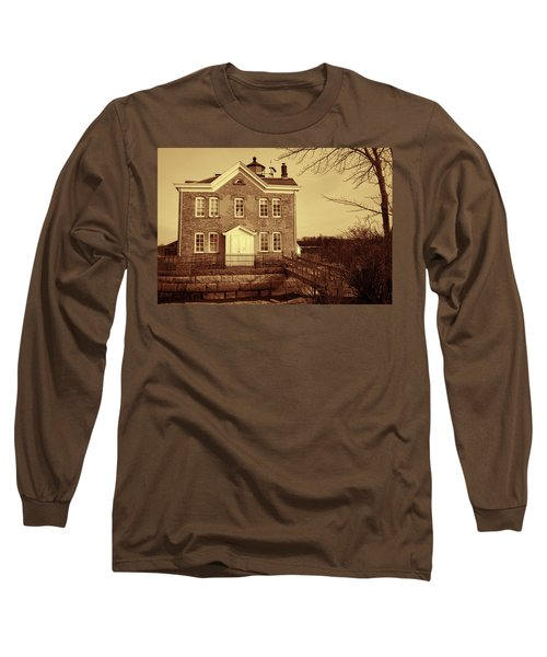 Saugerties Lighthouse Sepia Long Sleeve T-Shirt