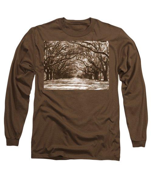 Savannah Sepia - Glorious Oaks Long Sleeve T-Shirt