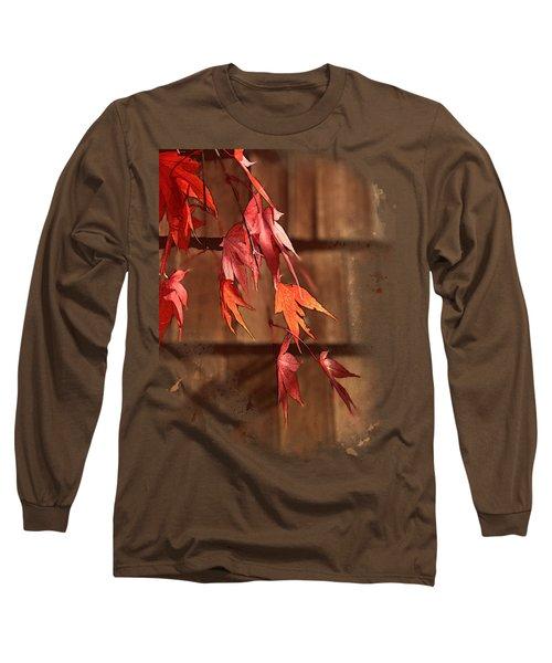 Scarlet Cascade Long Sleeve T-Shirt