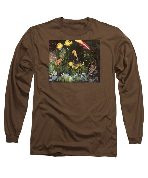 Long Sleeve T-Shirt featuring the painting Sea Harmony by Carol Sweetwood