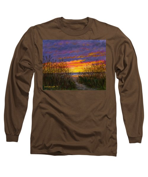 Sea Oat Sunrise # 2 Long Sleeve T-Shirt