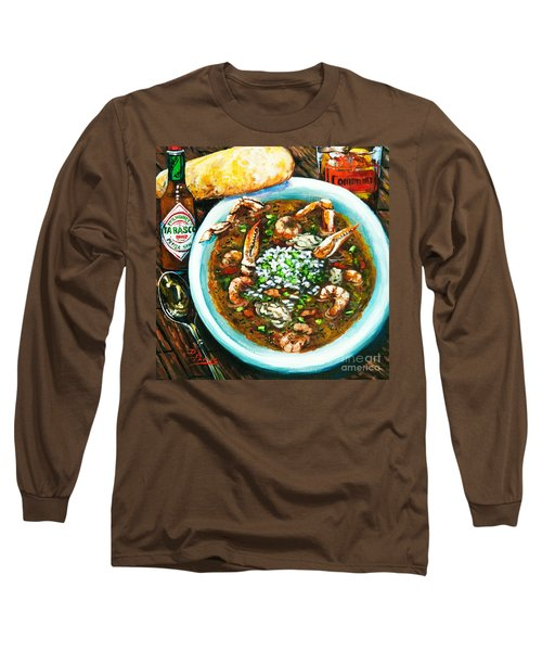 Seafood Gumbo Long Sleeve T-Shirt