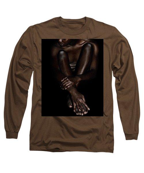 Seated Woman Long Sleeve T-Shirt