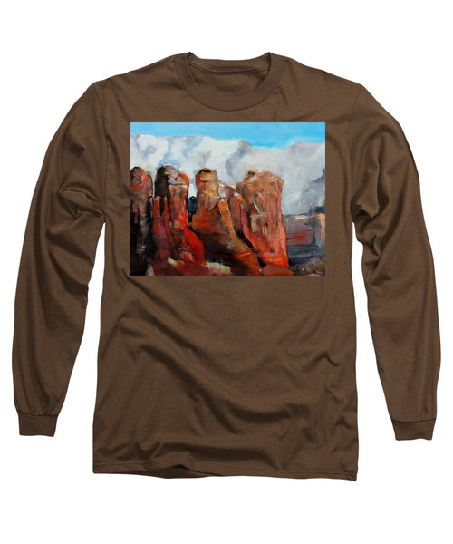 Sedona Coffee Pot Rock Painting Long Sleeve T-Shirt
