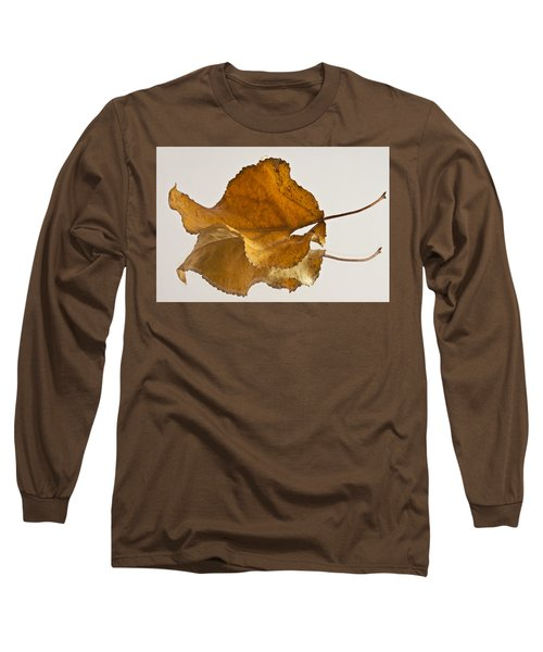 Seeing Double Autumn Leaf  Long Sleeve T-Shirt by Sandra Foster