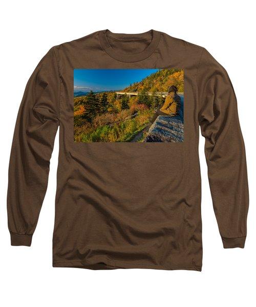 Seize The Day At Linn Cove Viaduct Autumn Long Sleeve T-Shirt