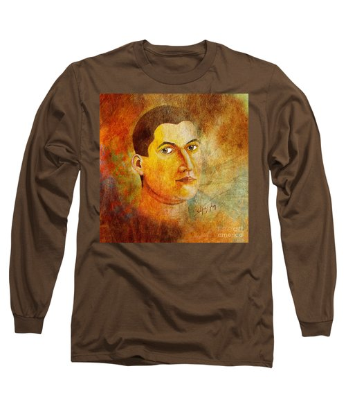 Long Sleeve T-Shirt featuring the painting Selfportrait Oil by Alexa Szlavics