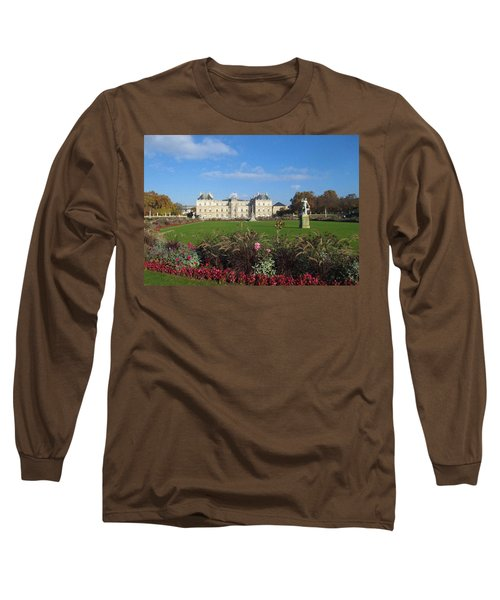 Long Sleeve T-Shirt featuring the photograph Senate From Jardin Du Luxembourg by Christopher Kirby