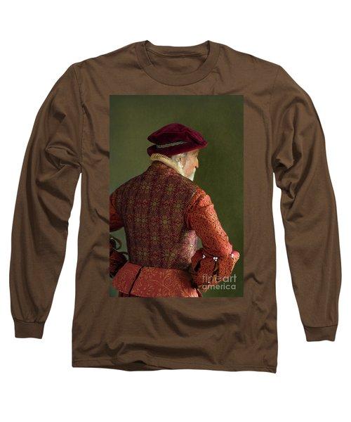 Senior Tudor Man Long Sleeve T-Shirt by Lee Avison