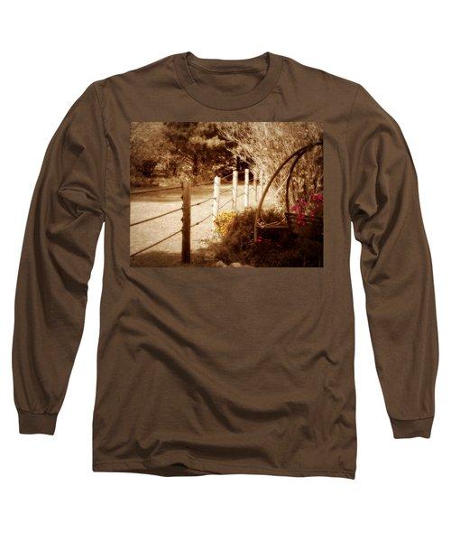 Sepia Garden Long Sleeve T-Shirt