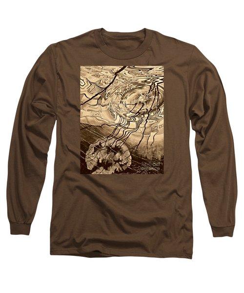 Sepia Ripples Long Sleeve T-Shirt