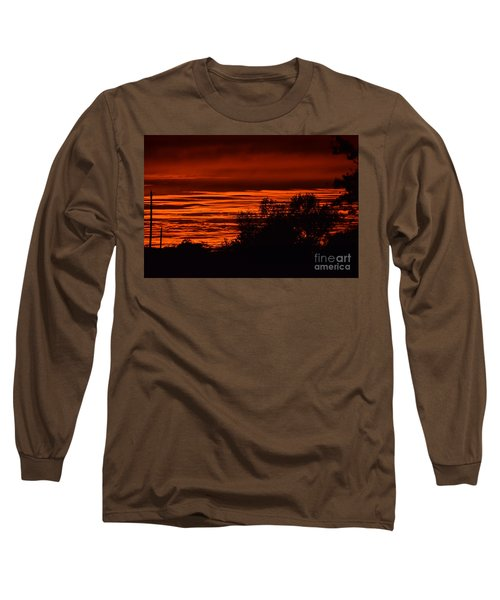 Long Sleeve T-Shirt featuring the photograph September Kansas Sunset by Mark McReynolds