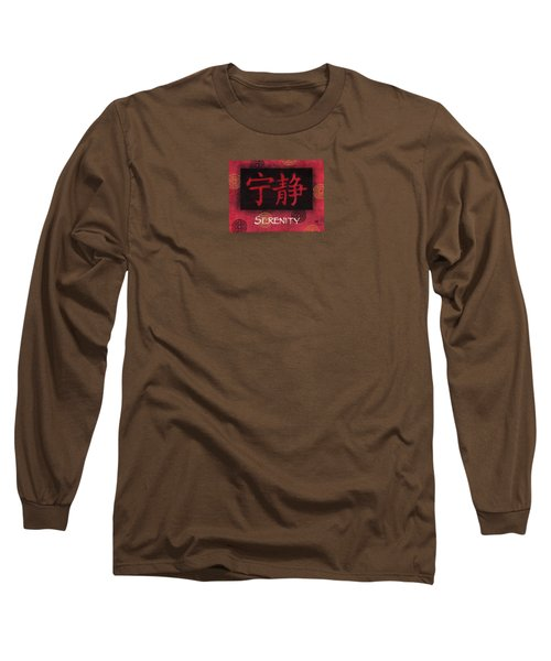 Long Sleeve T-Shirt featuring the painting Serenity - Chinese by Hailey E Herrera