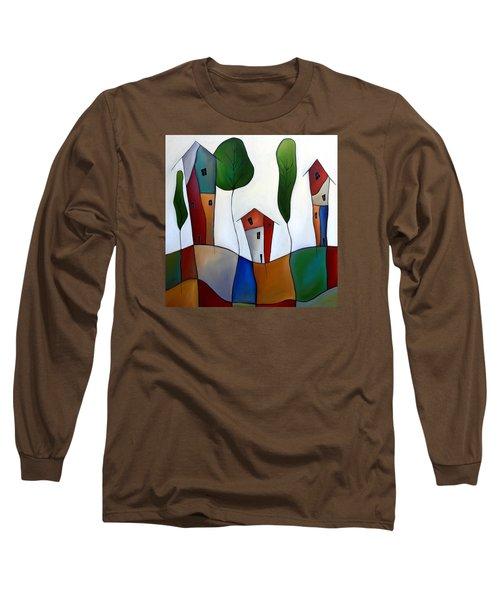 Settling Down Long Sleeve T-Shirt by Tom Fedro - Fidostudio