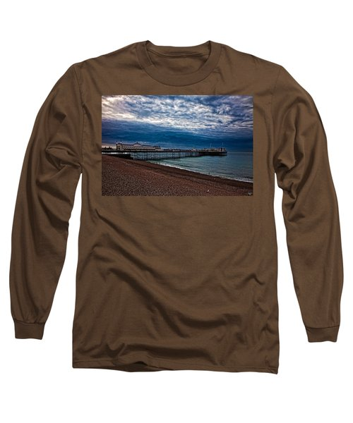 Seven Am On Brighton Seafront Long Sleeve T-Shirt by Chris Lord