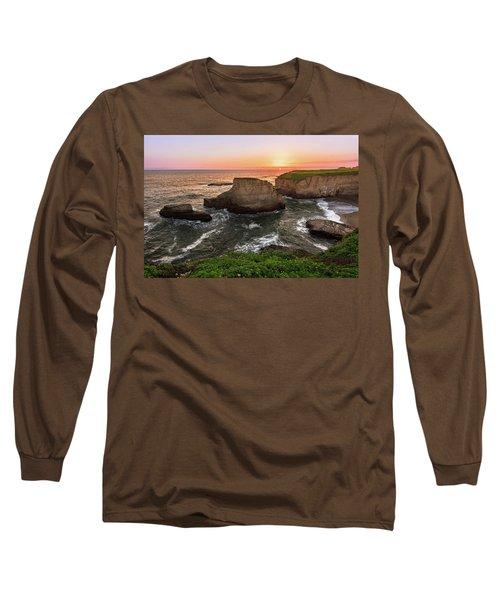 Shark Fin Cove Sunset Long Sleeve T-Shirt