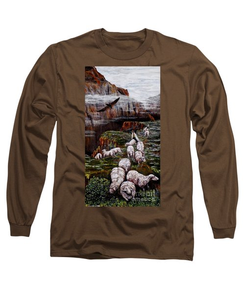 Sheep In The Mountains  Long Sleeve T-Shirt