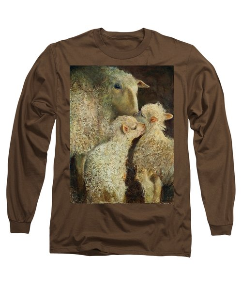 Sheep With Two Lambs Long Sleeve T-Shirt