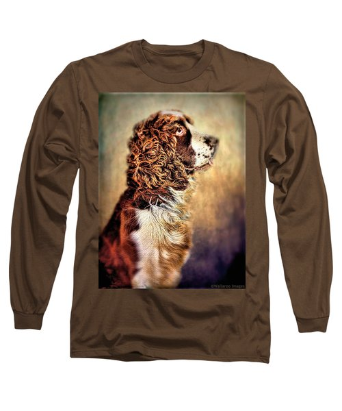 Long Sleeve T-Shirt featuring the photograph Shiloh, English Springer Spaniel by Wallaroo Images