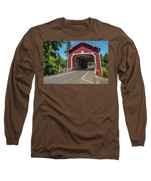 Shimanek Covered Bridge Long Sleeve T-Shirt