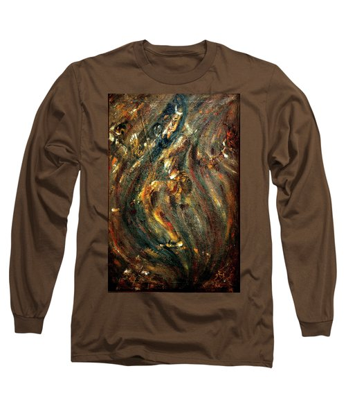 Long Sleeve T-Shirt featuring the painting Shiva Eternal Dance by Harsh Malik