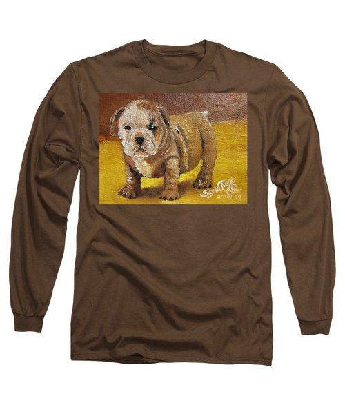 Chloe The   Flying Lamb Productions      Shortstop The English Bulldog Pup Long Sleeve T-Shirt