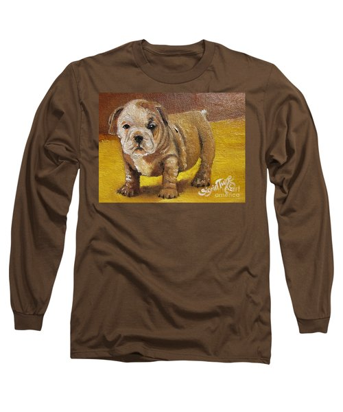 Chloe The   Flying Lamb Productions      Shortstop The English Bulldog Pup Long Sleeve T-Shirt