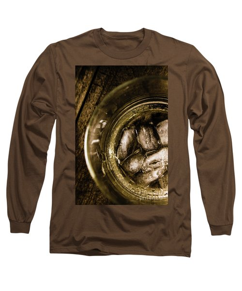 Shot Of Whisky On The Rocks Long Sleeve T-Shirt
