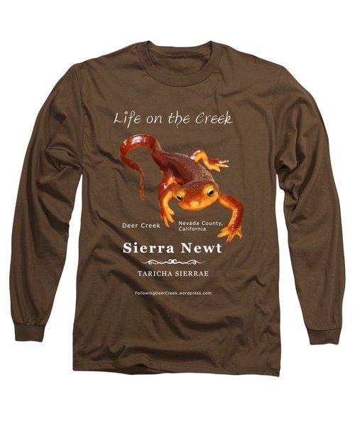 Sierra Newt - Color Newt - White Text Long Sleeve T-Shirt by Lisa Redfern
