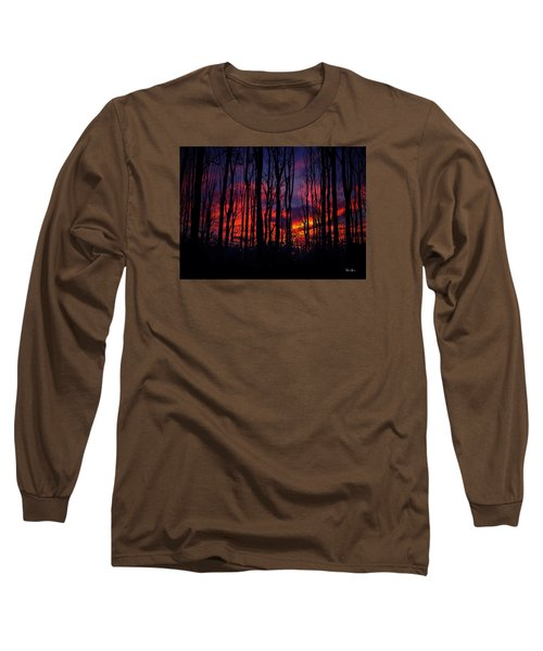 Silhouettes At Sunset Long Sleeve T-Shirt