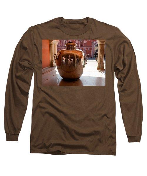 Silver Water Urn Jaipur Long Sleeve T-Shirt